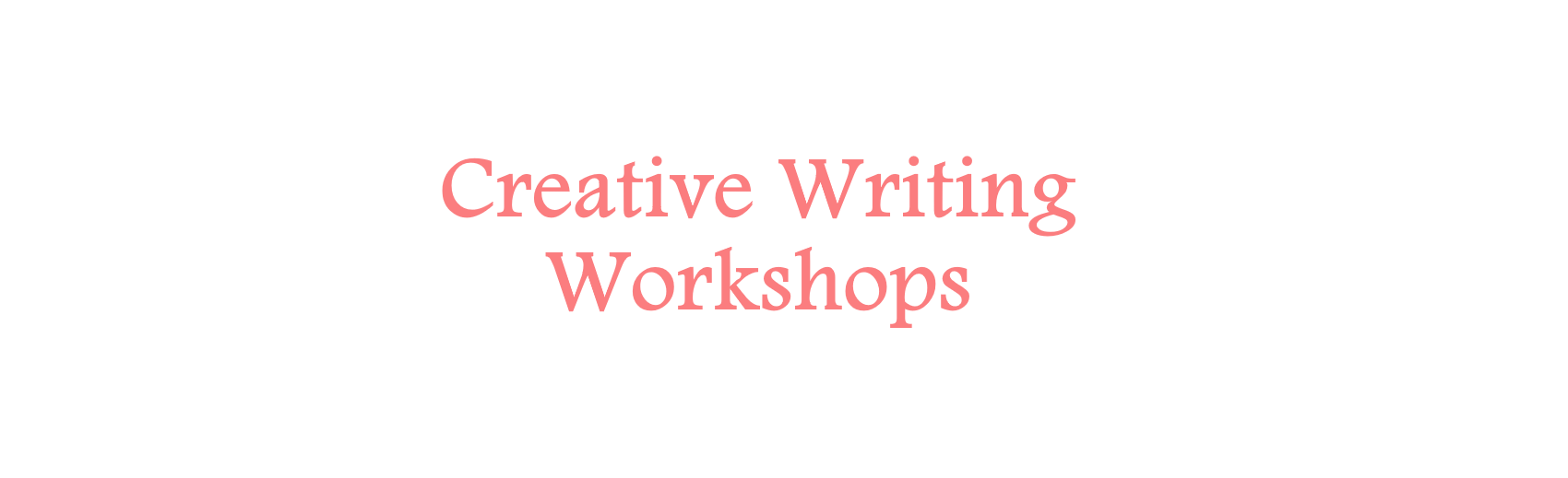 | A Way With Works | Creative Writing Workshops